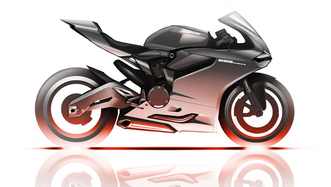 A Ducati 899 Panigale vázlata