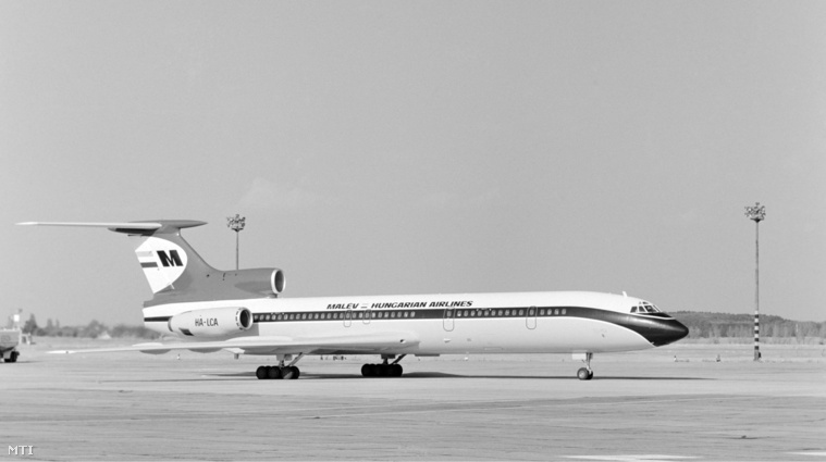 Egy Malév TU-154-es