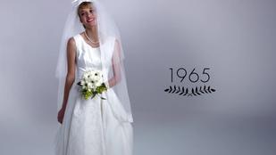 100 év esküvőiruha-divatja 3 percben