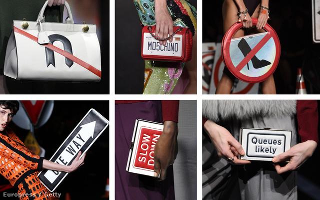 Anya Hindmarch vs. Moschino: idén ősszel az igazi divatmániások nem kerülhetik el a közlekedési táblás táskákat.