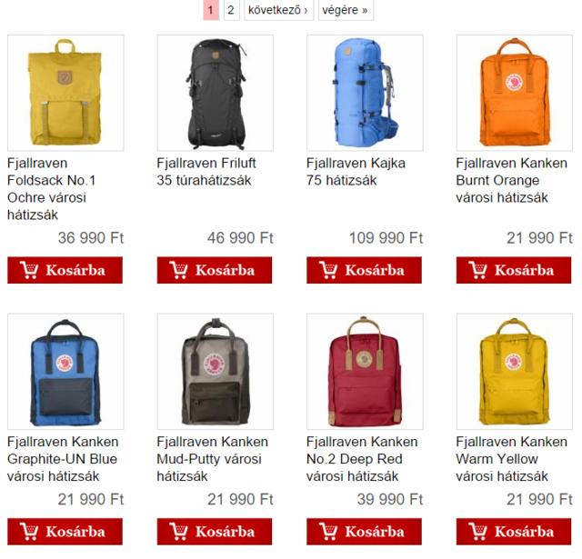 A Fjällräven Kånken táskáit a Tengerszem webshopban találja meg legolcsóbban.