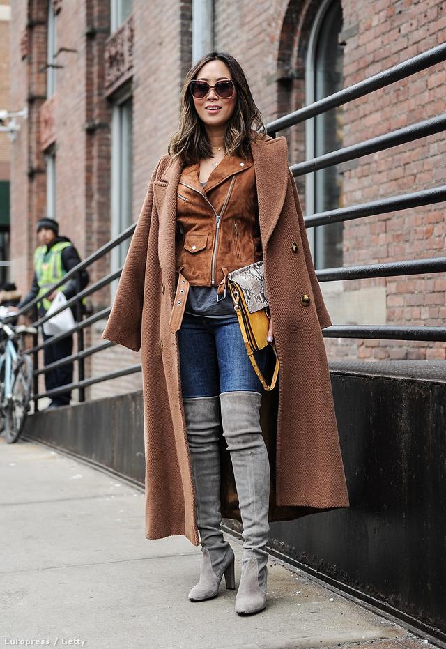 A szürke lábbeli idén barna kabáttal is menő.