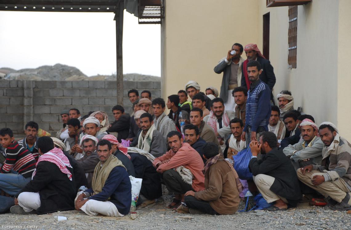 Illegális bevándorlók a szaúdi határon