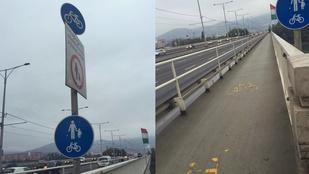 Kivitelezői lustaság miatt keletkezett anomália az Árpád hídon