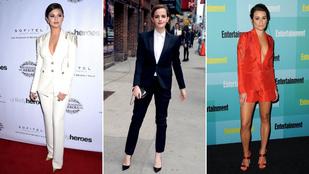 Így hordják a nadrágkosztümöt a hírességek