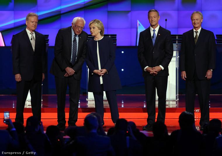 Az öt demokrata jelölt Tv-s vitája Nevadában