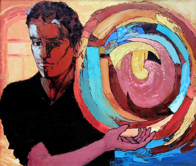 Balogh Tibor: Önarckép - Cigányfiú konstrukcióval (2012)