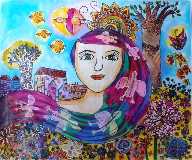 A képre kattintva nézzen meg még több ilyen gyönyörű festményt az Igazgyöngy Alapítvány fiataljainak munkáiból!