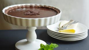 Pénteki süti: csokoládékrémes pite mentával
