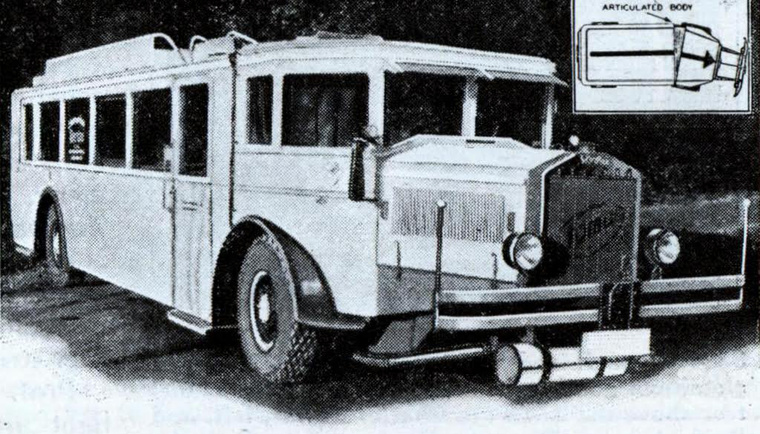 Az első csuklós busz egyáltalán nem hasonlított a mai megfelelőjére