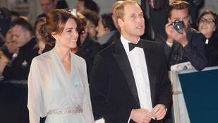 Katalin hercegné csont és bőr volt a Spectre premierjén