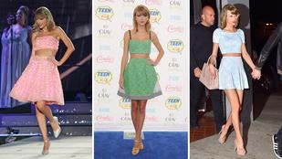 Taylor Swift szinte mindig ugyanúgy öltözik