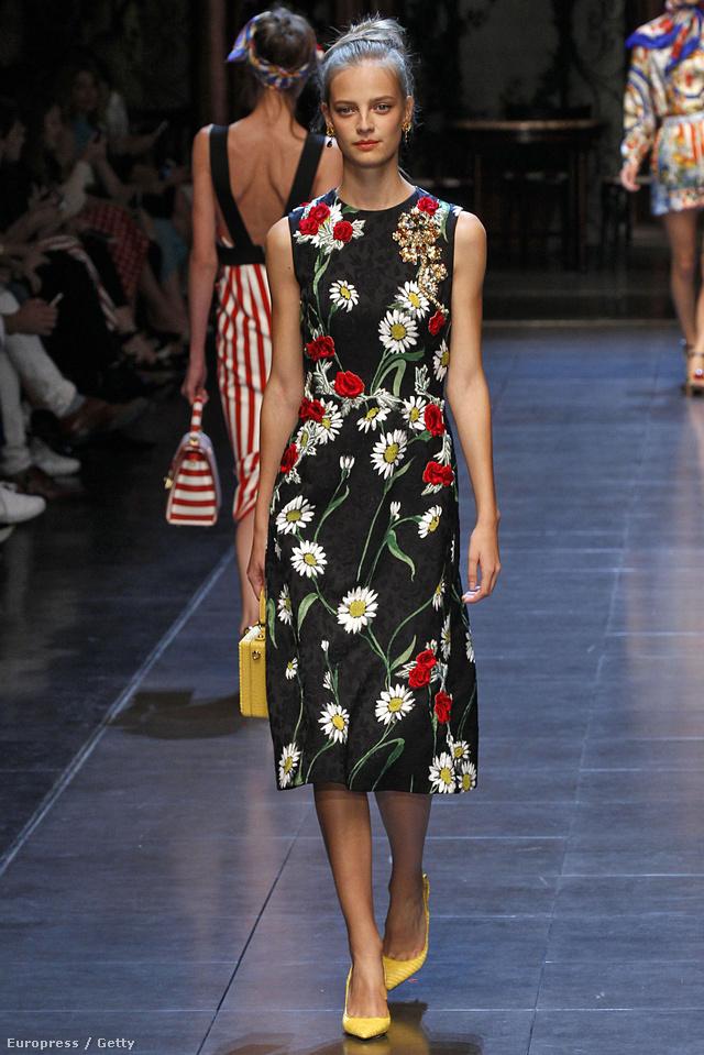 Jövőre is találunk majd virágos ruhákat a Dolce & Gabbana kollekciójában.