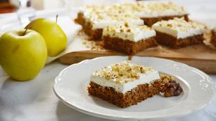 Pénteki süti: lisztmentes almás-fahéjas kocka