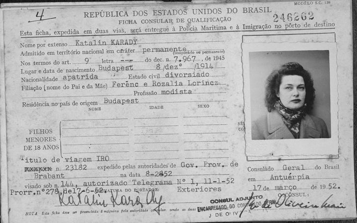 Karády Katalin letelepedési engedélye