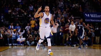 Curry nem megy 30 alá, Harden bepörgött