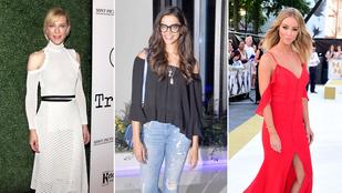 A vállvillantás az új divat a celebnők körében