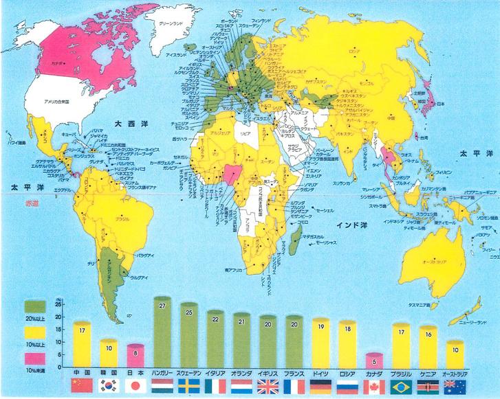 A világ ÁFA térképe