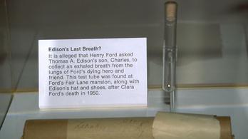 Edison utolsó leheletének titka