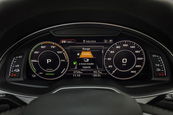 Audi Virtual Cockpit - fordulatszámmérő helyett a teljesítményről tájékoztat