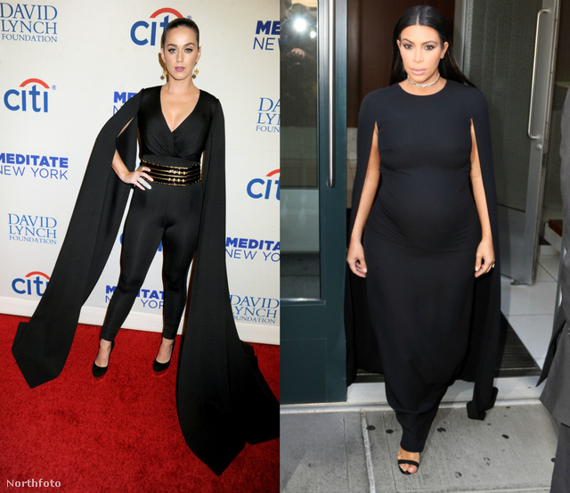 Ez már a fekete szín és Katy Perry, illetve Kim Kardashian.