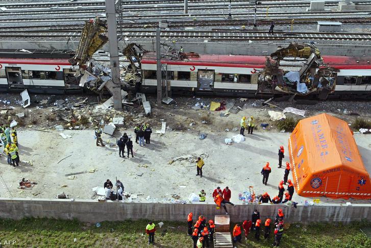 A madridi vonatrobbantás 2004-ben, ahol 173 ember vesztette életét