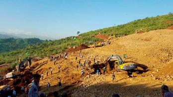 Földcsuszamlásban meghalt 90 ember Mianmarban