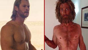 Chris Hemsworthről lement jópár kiló izom