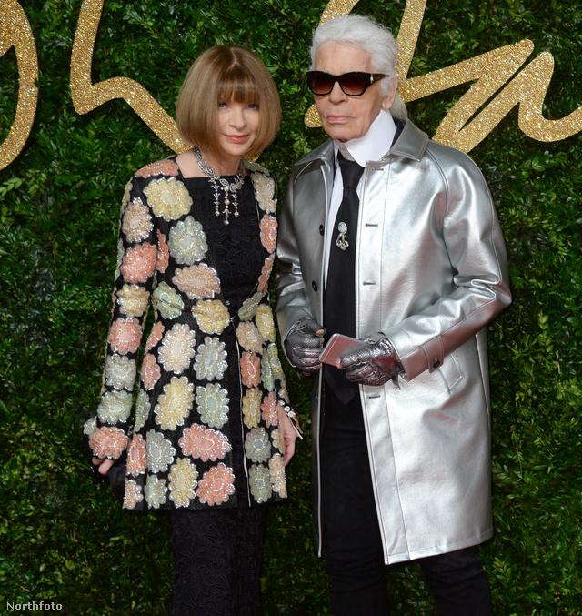 Karl Lagerfeld és Anna Wintour először.