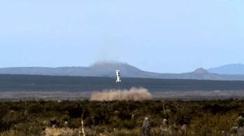 Elképesztő landolással ért földet a Blue Origin rakétája
