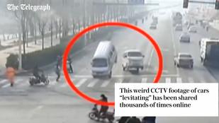 Nem UFO-k, hülye baleset okozta a kínai repülő autókat