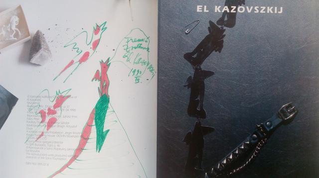 """""""A Sivatagi homokozó című katalógusának belső borítójára nekem rajzolt repülő állatai."""""""