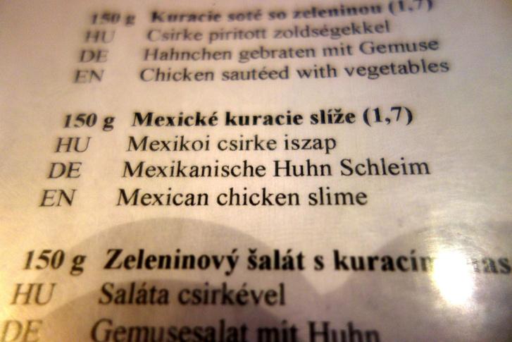 Evett már ön csirkeiszapot? És mexikóit?