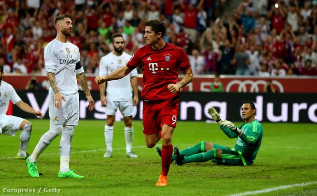 Lewandowski épp a Realt szomorítja a nyári Audi-kupán