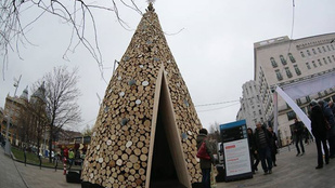 Az Erzsébet téri Adományfa karácsony után tűzifaként segíti a szegényeket
