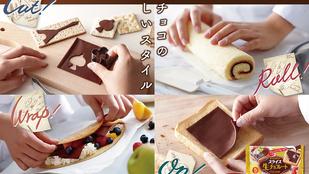 Egyen lapkasajt módra csomagolt csokoládét!
