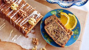 Pénteki süti: diós-sztracsatellás narancskenyér
