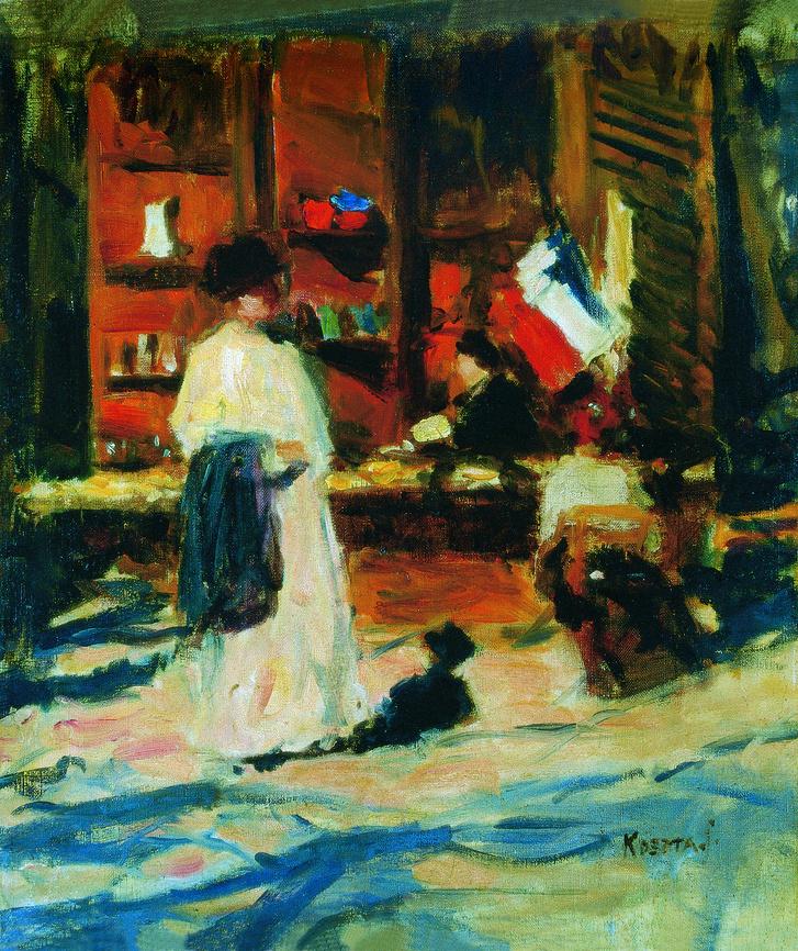 Koszta József: Párizsi kirakat, 1911