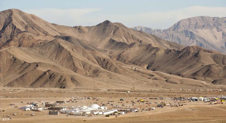 Copiaco városa az Atacama-sivatagban, Chilében.