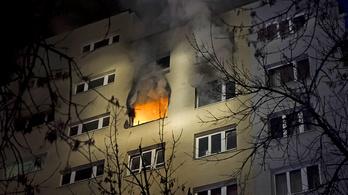 Tűz egy kelenföldi panelházban