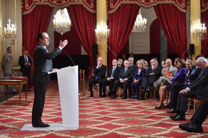 Francois Hollande a klímacsúcs egyik rendezvényén