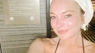 Napi celeb smink nélkül: Lindsay Lohan