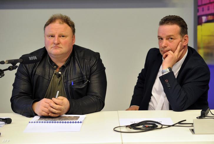 Piotr Koper és Andreas Richter a sajtótájékoztatón