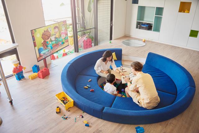 Egy 122 négyzetméteres tajvani lakást dobtak fel Lego dizájnnal.