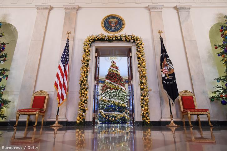 Az idei év karácsonyfája a Fehér Házban