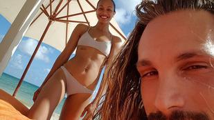 Bikiniben mutatta meg magát Zoe Saldana egy évvel az ikrei születése után