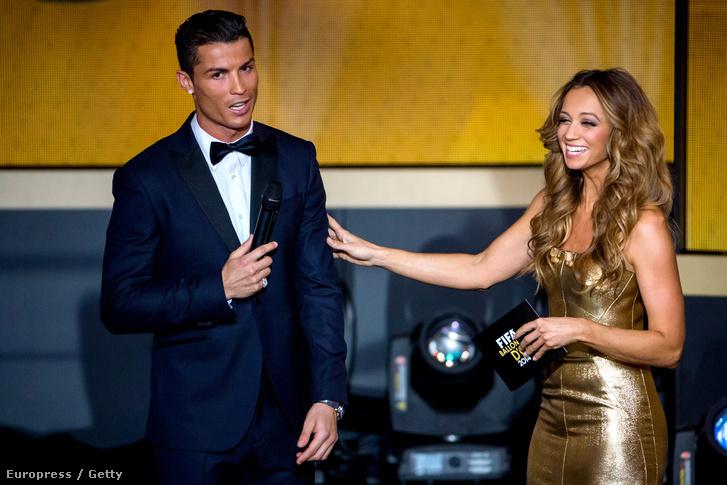 Cristiano Ronaldo és Kate Abdo