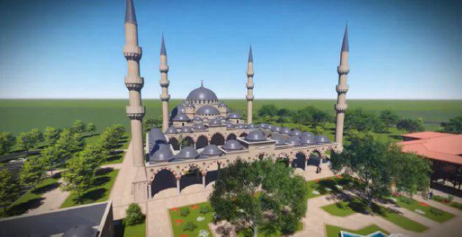 A tervezett kőbányai mecset látványterve