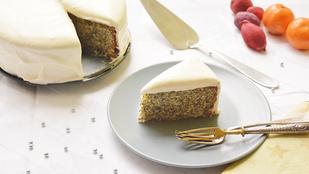 Pénteki süti: havas narancsos-mákos torta