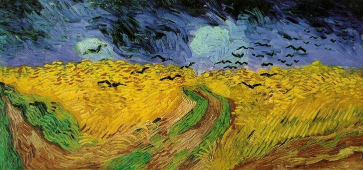 Vincent Van Gogh: Hollók a gabonaföld felett